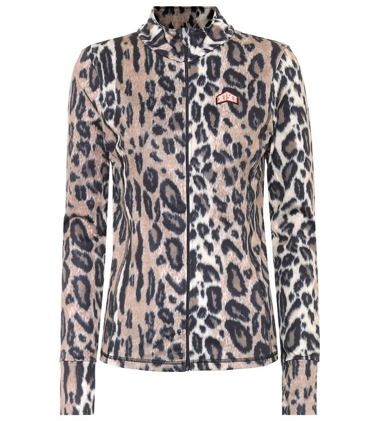 Jet Set Cilla leopard soft-shell jacket in brown