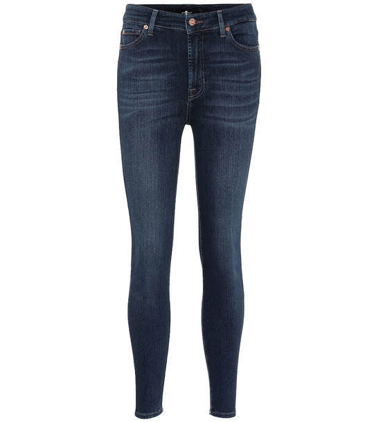 7 For All Mankind Aubrey high-rise skinny jeans in blue