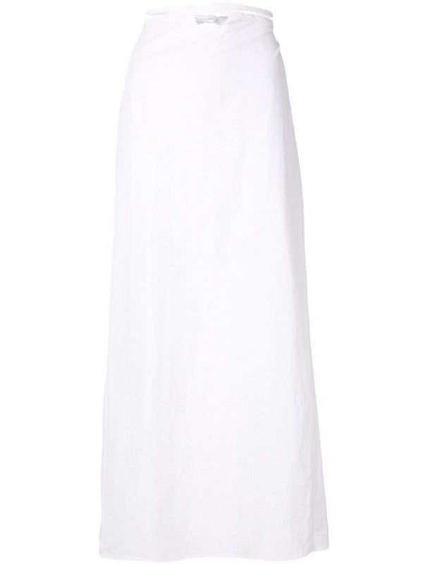 Christopher Esber loop hole tie skirt in white