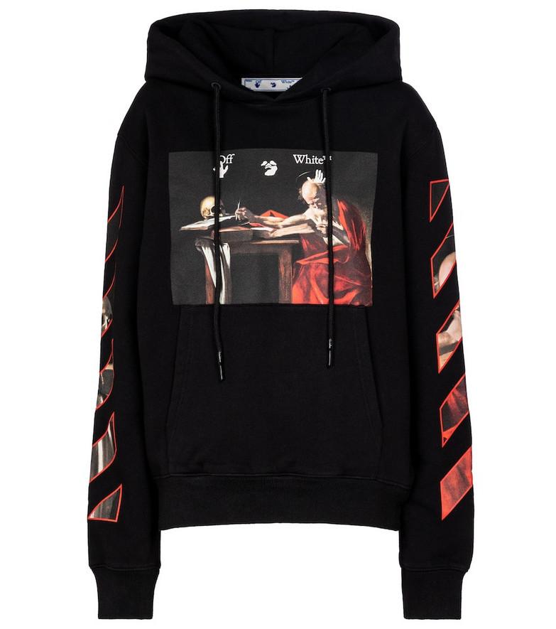 Off-White Caravaggio cotton-jersey hoodie in black