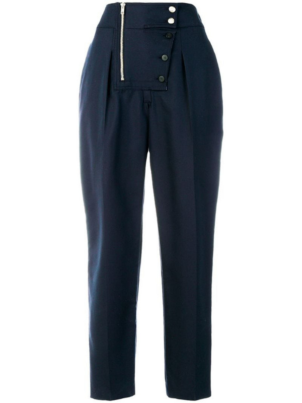 Calvin Klein 205W39nyc high waisted trousers in blue