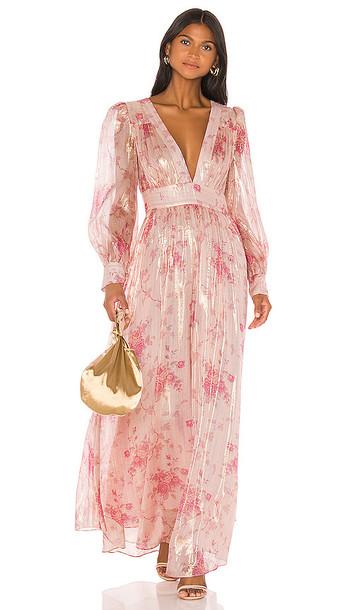 LoveShackFancy Cyrena Dress in Pink