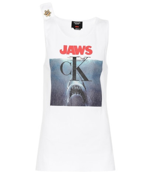 Calvin Klein 205W39NYC Crystal-embellished tank top in white