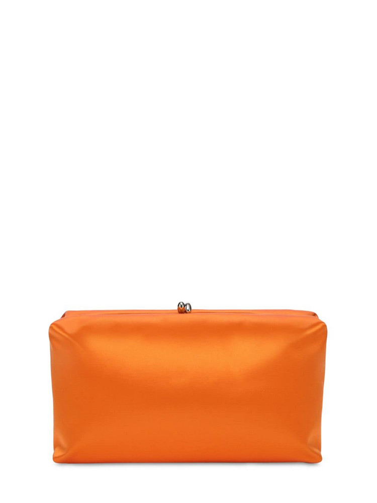 JIL SANDER Goji Soft Satin Clutch