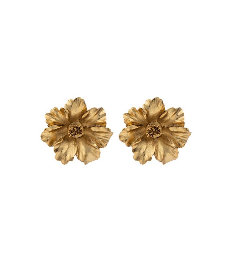 Jennifer Behr Tamara floral earrings in gold