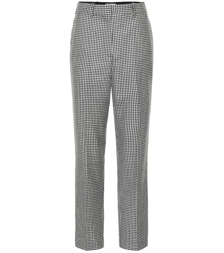 Racil Michael checked wool wide-leg pants in black