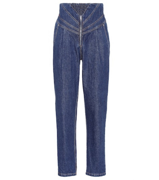 The Attico High-rise jeans in blue