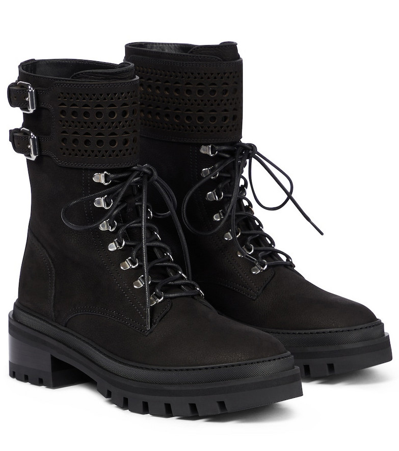 Alaïa Laser-cut leather boots in black