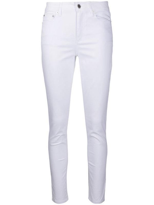 Michael Michael Kors denim high rise skinny jeans in white