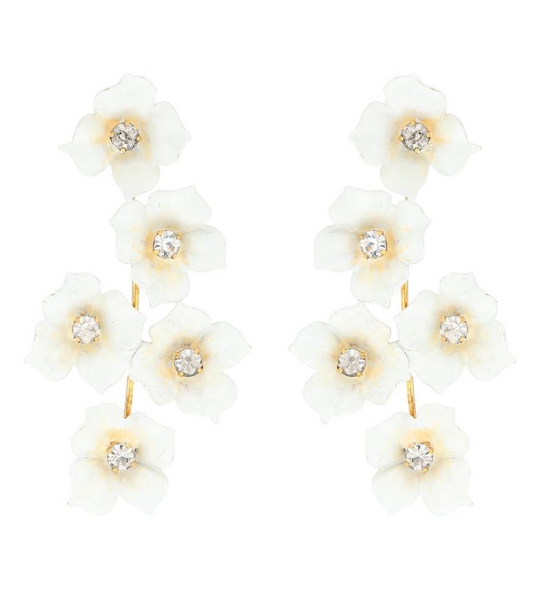 Jennifer Behr Pia embellished earrings in white