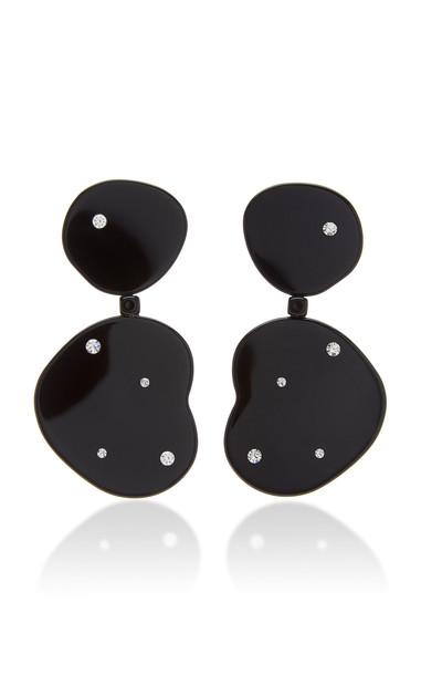 Simon Miller Sea Bean Crystal-Embellished Drop Earrings in black