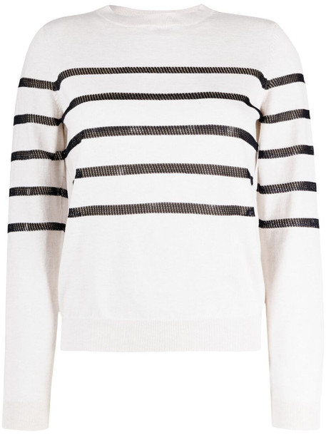 A.P.C. A.P.C. striped crew-neck jumper - White
