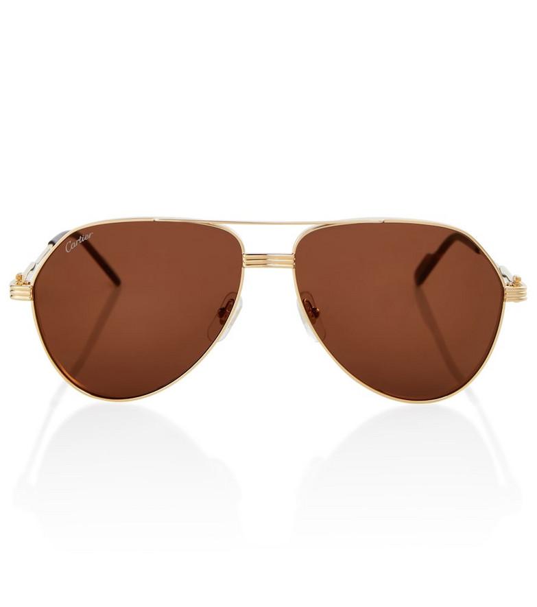 Cartier Eyewear Collection Metal sunglasses in brown