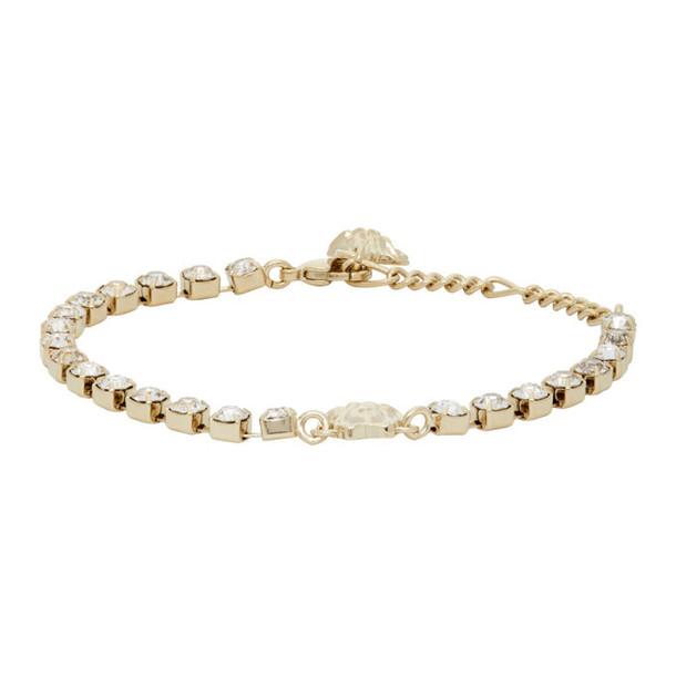 Versace Gold Crystal Medusa Bracelet