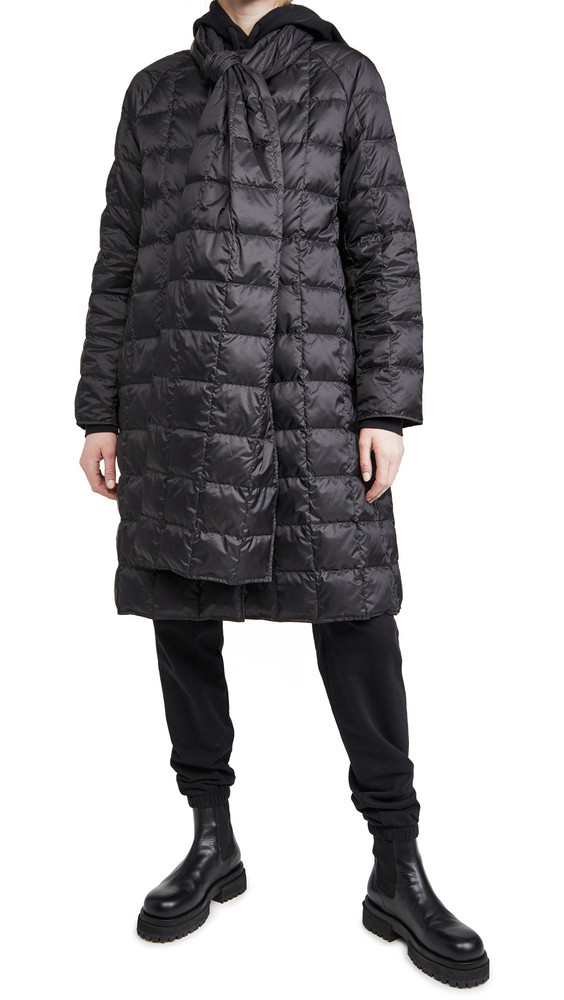 Theory Scarf Coat in black