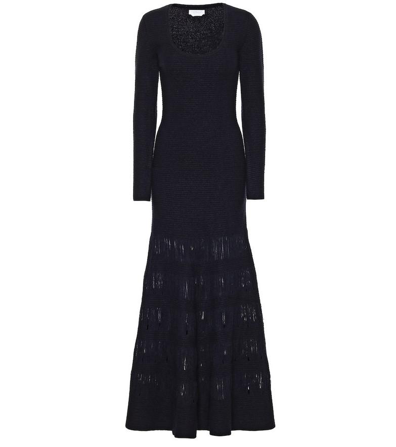 Gabriela Hearst Ivanov wool and silk maxi dress in blue