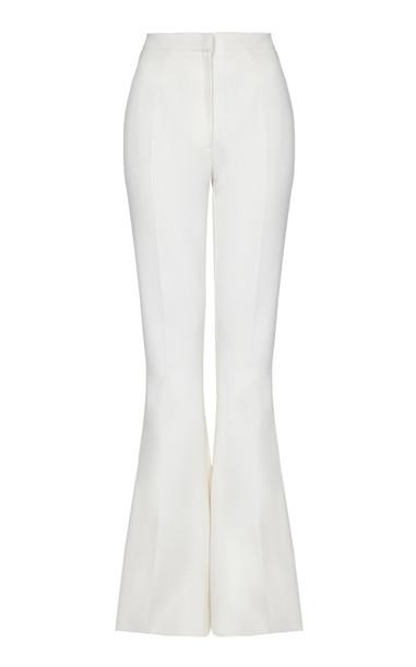 Safiyaa Halluana Heavy Crepe Flared Pants Size: 34 in white