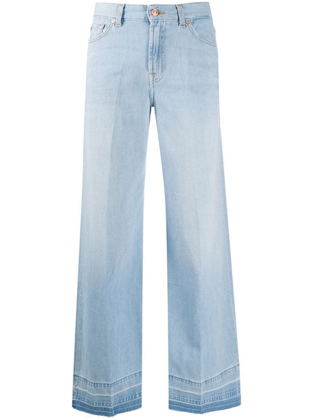 7 For All Mankind wide-leg flared jeans in blue