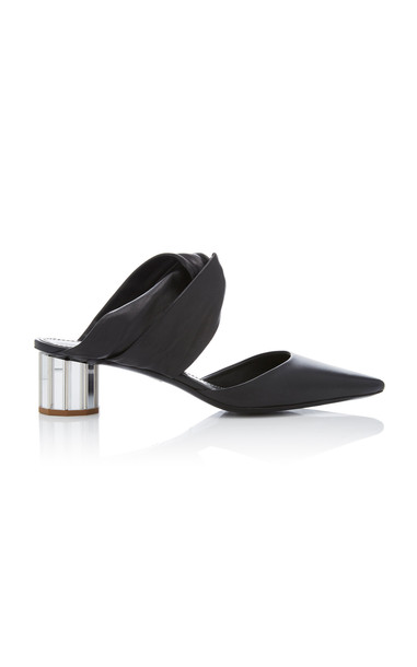 Proenza Schouler Bow-Detailed Leather Mules in black