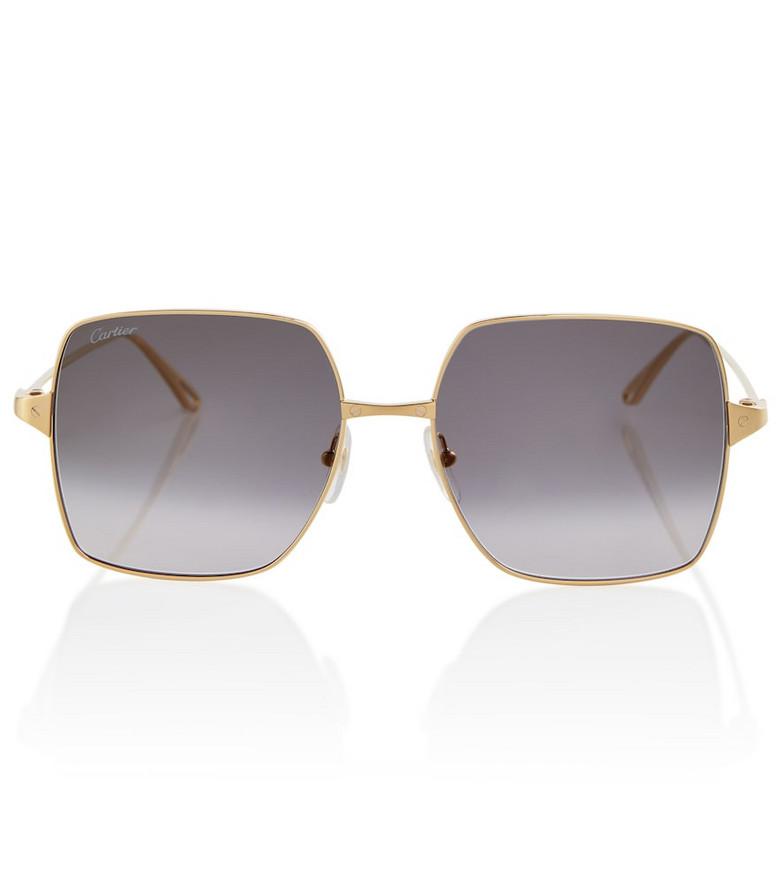 Cartier Eyewear Collection Metal sunglasses in black