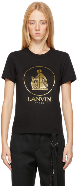 Lanvin Black & Gold Mother & Child T-Shirt