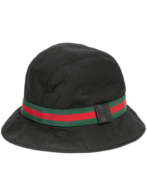 Gucci Pre-Owned GG Shelly line hat in black