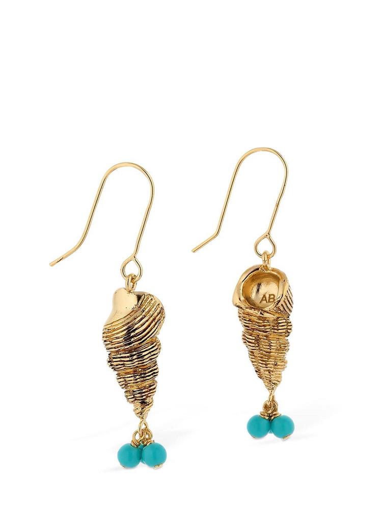 AURELIE BIDERMANN Roudoudou Pendant Earrings in turquoise / gold