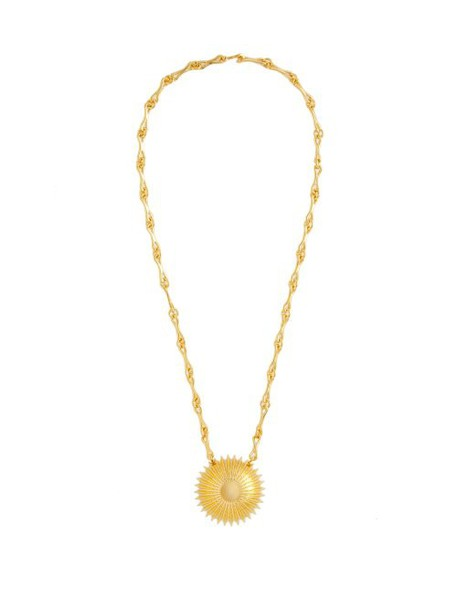 Joelle Kharrat - Cactus Pendant Gold Plated Brass Necklace - Womens - Gold