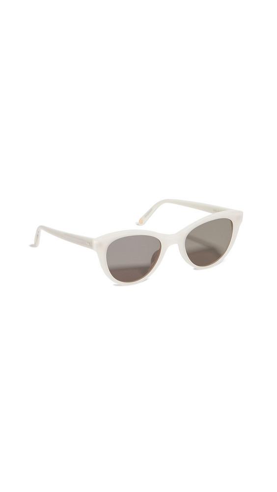 GARRETT LEIGHT GL x Clare V 47 Sunglasses in ivory