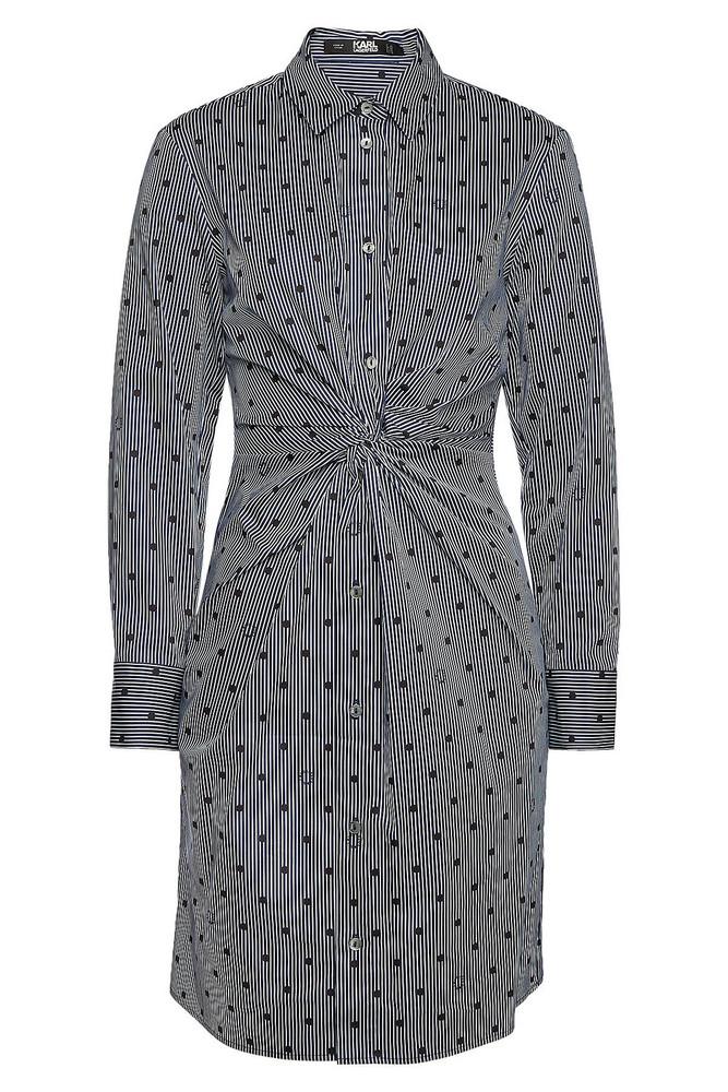 Karl Lagerfeld Printed Cotton Shirt Dress