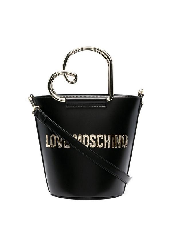 Love Moschino logo bucket bag in black