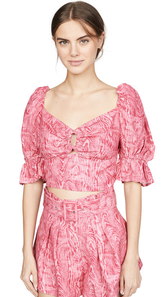 C/Meo Collective Arglye Top in pink