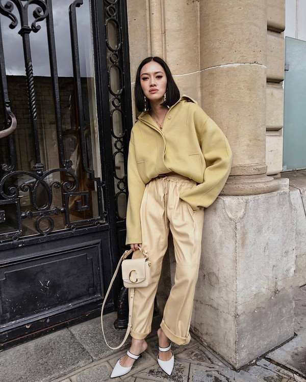 shoes mules chloe bag joggers coat