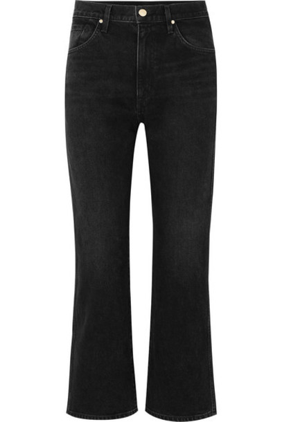 Goldsign - The Cropped A High-rise Straight-leg Jeans - Black