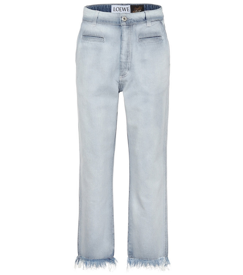 Loewe Paula's Ibiza low-rise frayed jeans in blue