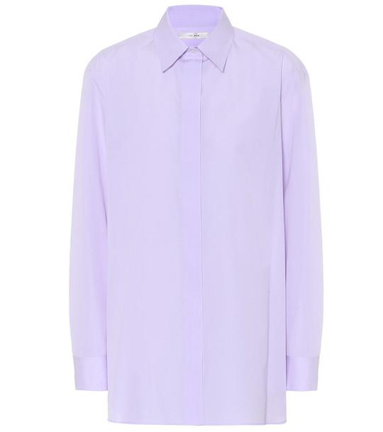 The Row Big Sisea cotton shirt in purple