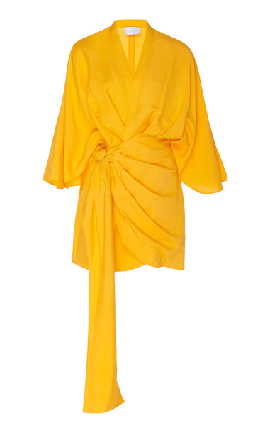 Significant Other Zahara Linen Mini Dress in yellow
