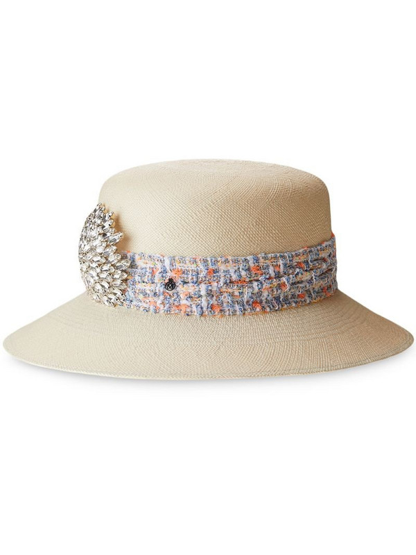 Maison Michel New Kendall sun hat in neutrals