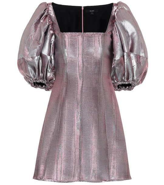 Ellery Lady D'arbanville metallic minidress in pink