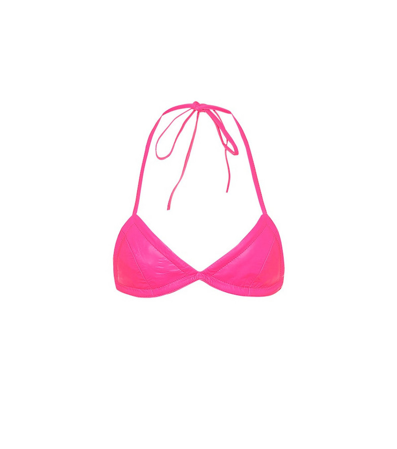 Off-White Leather bra in pink