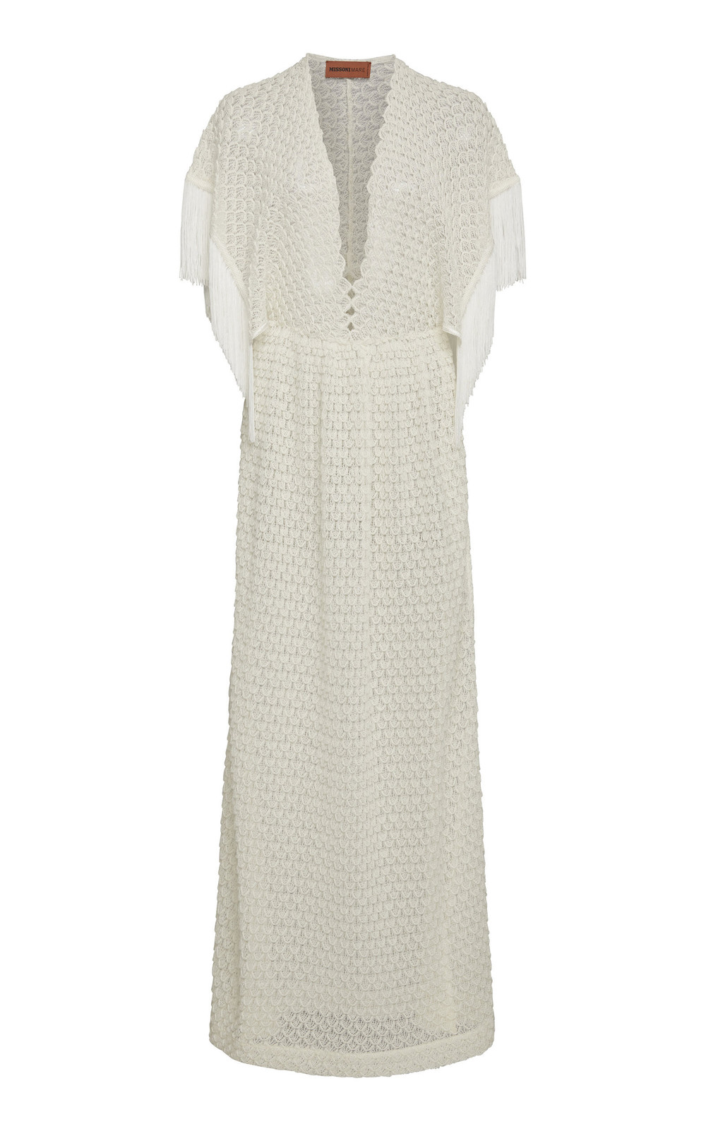 Missoni Mare Fringe-Trimmed Knit Coverup in white