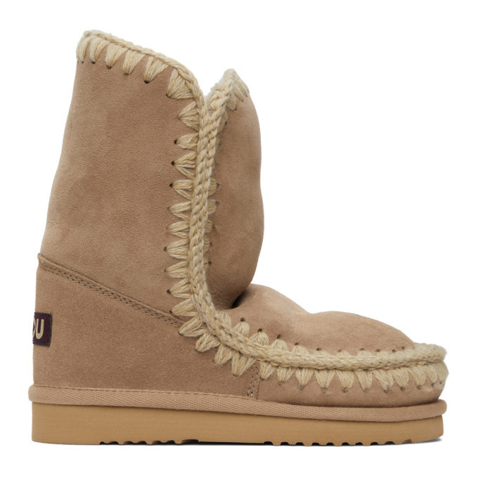 Mou Brown 24 Mid-Calf Boots in camel