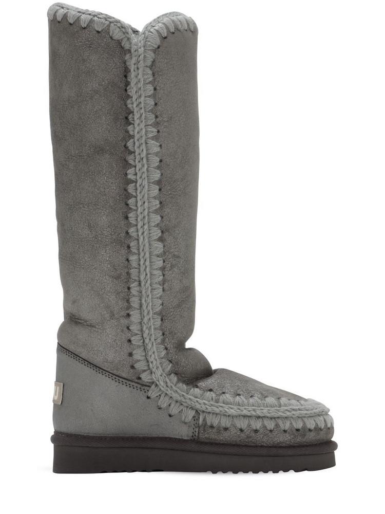 MOU 20mm Eskimo 40 Metallic Shearling Boots in grey