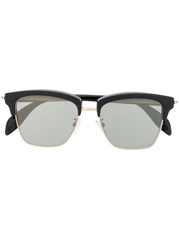 Alexander McQueen Eyewear horn-rimmed square sunglasses in black