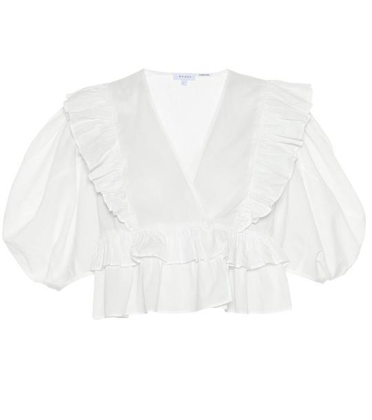RHODE Elodie cotton top in white