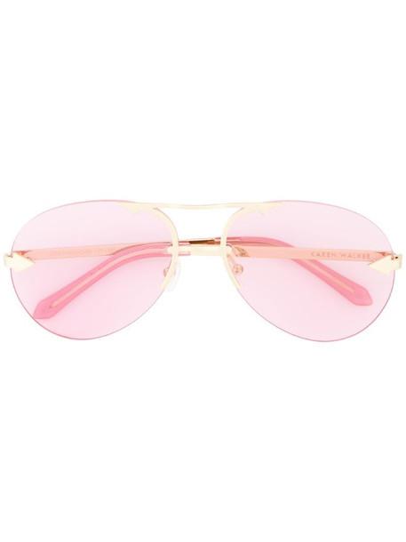 Karen Walker Love Hangover sunglasses in metallic