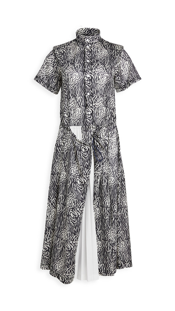 Toga Pulla Print Dress in black