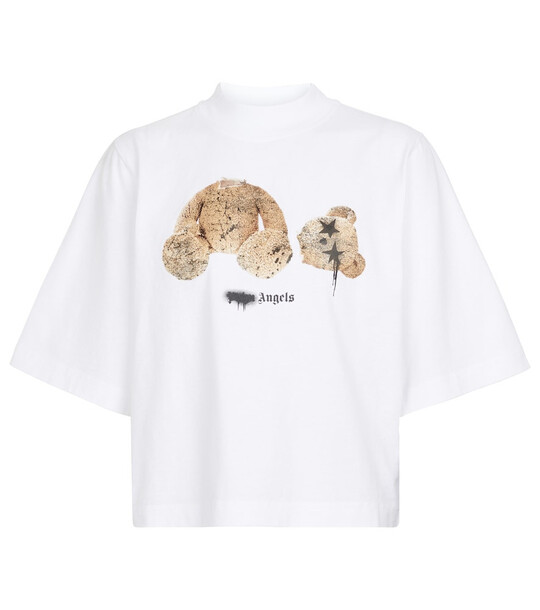 Palm Angels Printed cropped cotton T-shirt