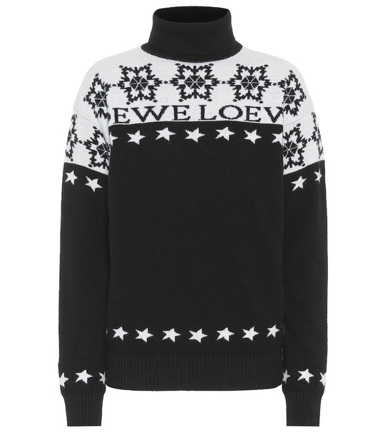 Loewe Snowflake wool turtleneck sweater in black