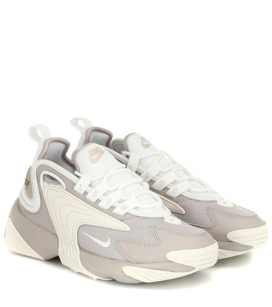 Nike Zoom 2K leather-trimmed sneakers in grey